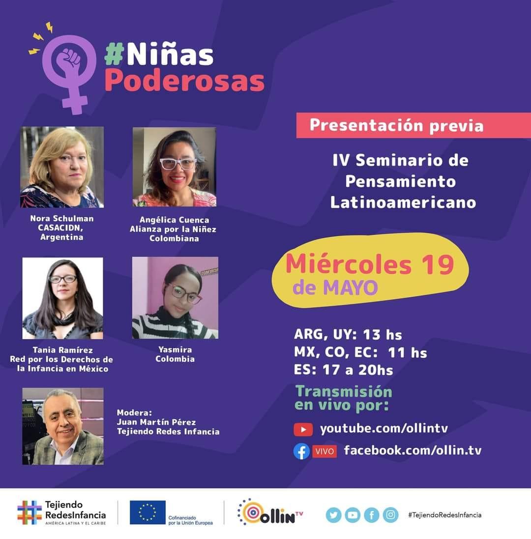 Hoy 13hs presentación del IV Seminario de Pensamiento Latinoamericano #NiñasPoderosas
