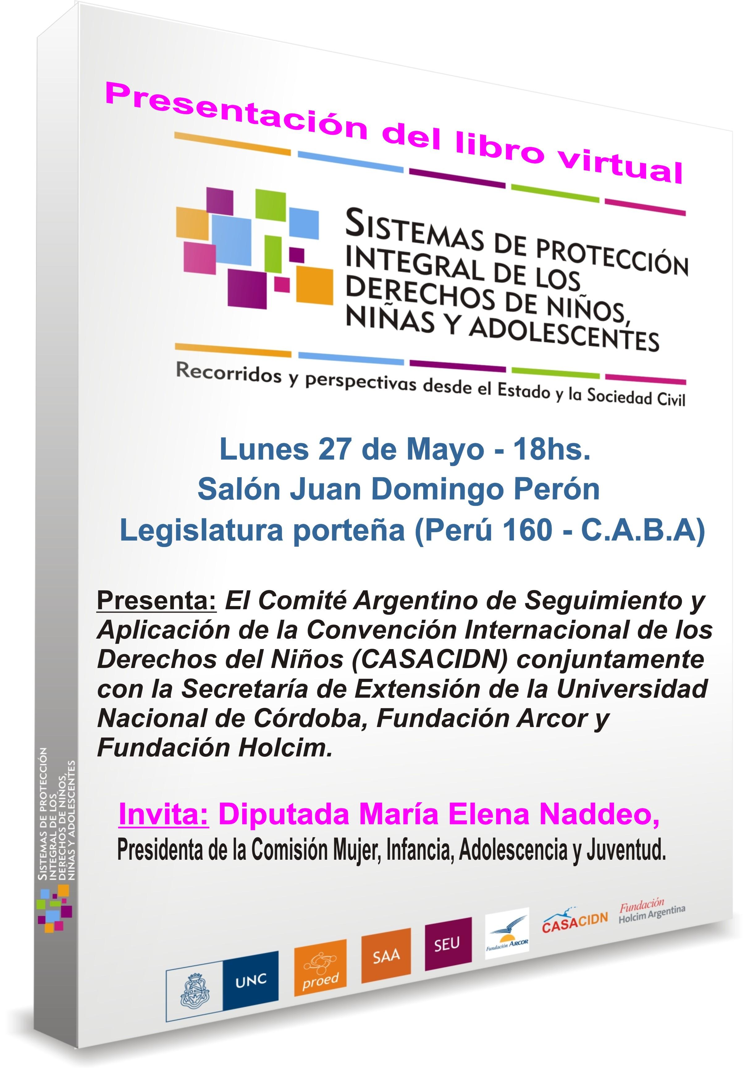 """Presentación del libro virtual """"Sistemas de protección integral de los derechos de niños, niñas y adolescentes»"""